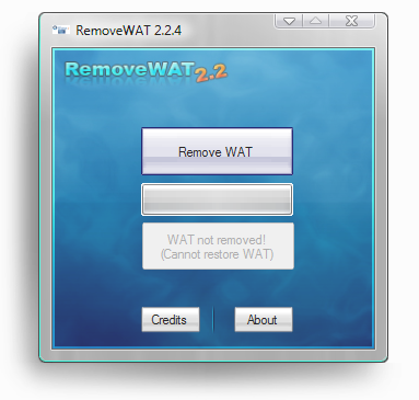 Активатор Windows 7 RemoveWAT 2.2.6